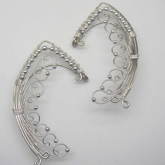 Tinuviel-ear wrap ear cuff pair elven fairy