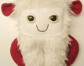 Furry Monster, monster yeti, plush monster in white faux fur : Fraggles