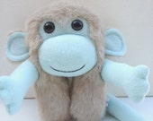 Furry plush monkey monster in pastel colours - Kiki