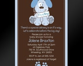 Cute Puppy Dog Baby Shower or Birthday Party Invitation -- PRINTABLE INVITATION DESIGN