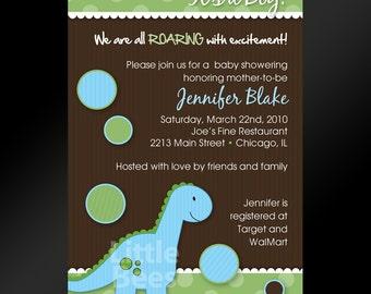 Dinosaur or T-Rex Printable Baby Shower or Birthday Invitation