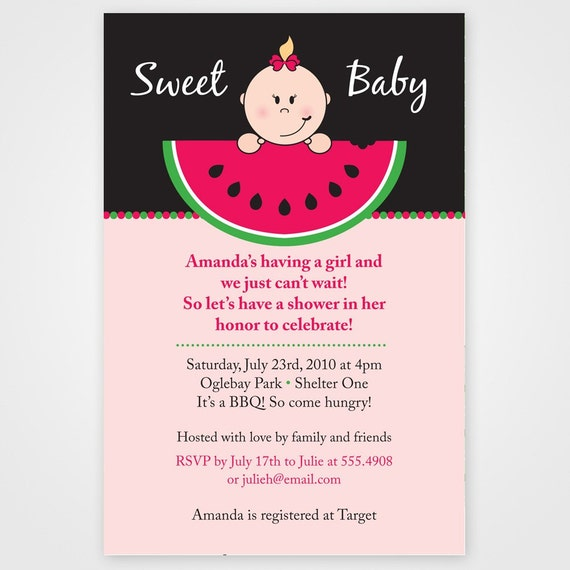 Items Similar To Sweet Summer Watermelon Printable Baby