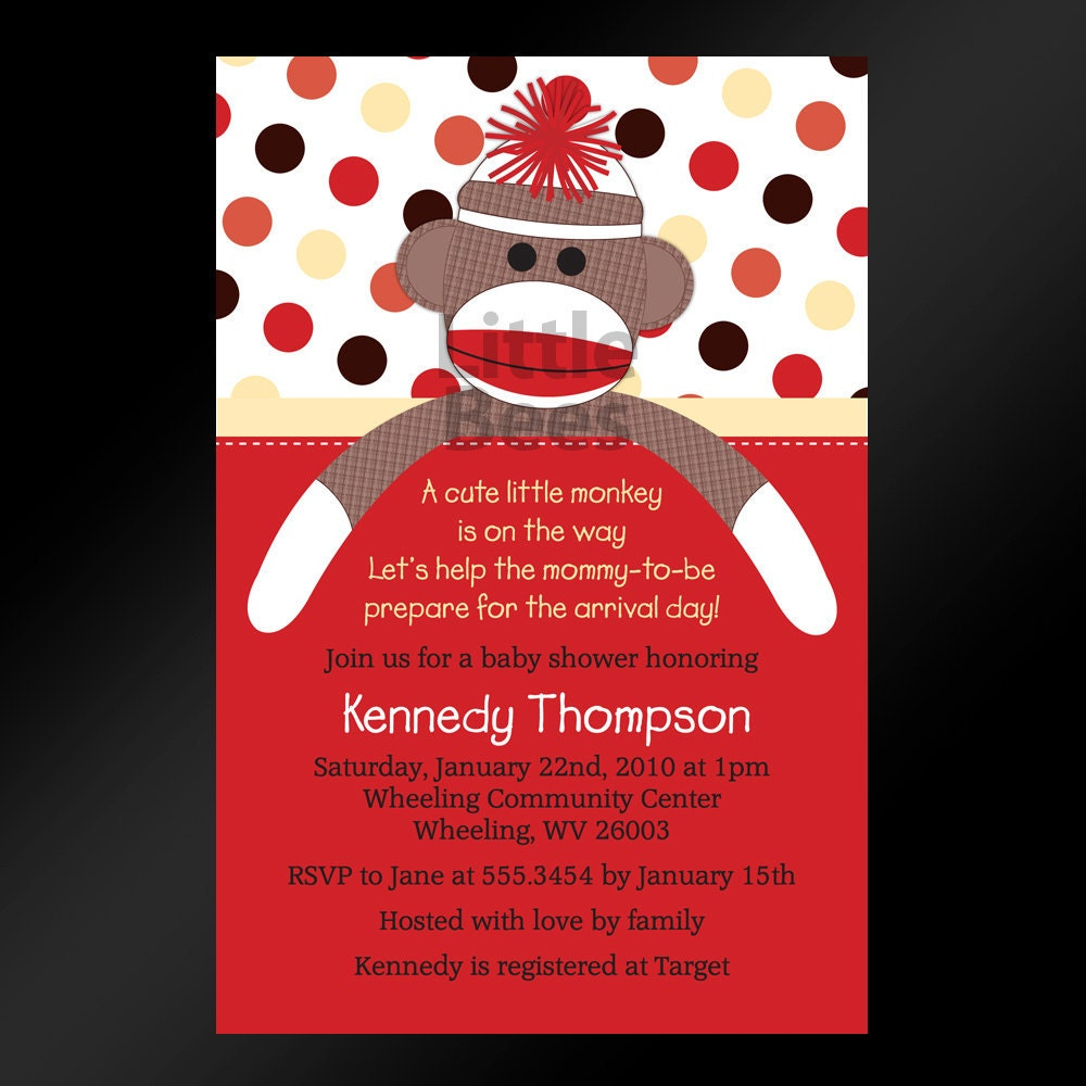 Free Printable Monkey Baby Shower Invitations is adorable invitation design