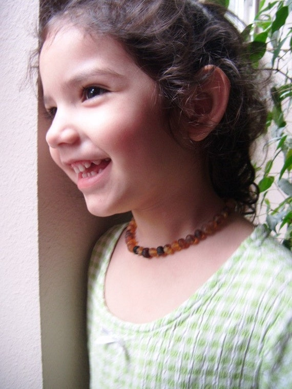 100% Genuine RAW Unpolished Baltic Amber Teething Pain Relief Necklace Made-to-order in the USA