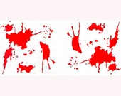 "blood splatter rub-on vinyl decal-3-1/2""x4""  2 per sheet"