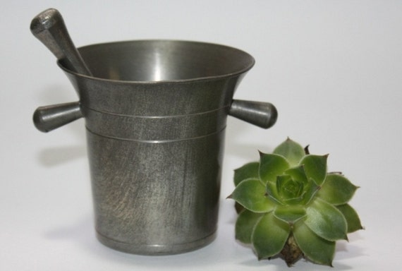 Pewter Mortar and Pestle, Early 1800s, A True Antique