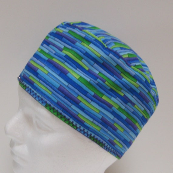 Unisex Standard Scrub Hat Shades of Blue and Green