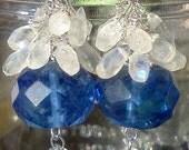 CLEARANCE. Moonstone Earrings, Something Blue