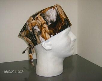Horses Surgical Scrub Cap
