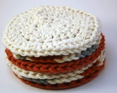 Sweet and Sour Paprika Cotton Face Scrubbies