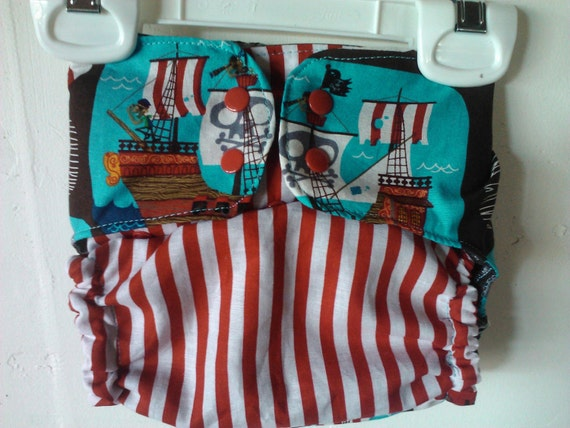 Pirate Booty II PUL diaper Cover