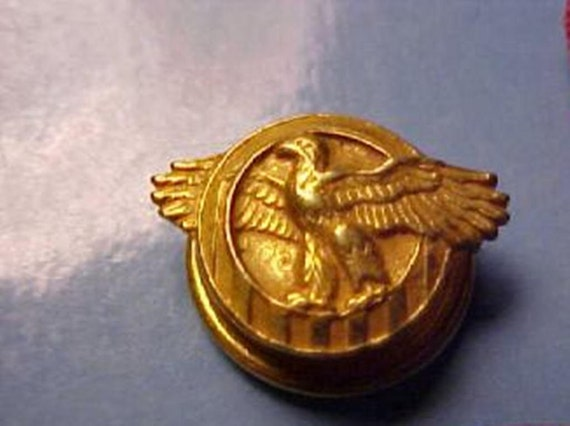 US Military Medals Honorable Discharge Eagle Lapel Button Pin WW2 Original