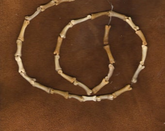 12 inch strand of  Coyote Foot Bone Beads Hand Made for Special Projects pagan totem mountain man shamanism