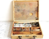 Vintage Paint Set in Wooden Box