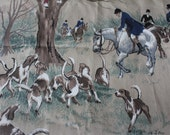 Vintage J. Chesterfield Studio Foxrun Foxhunt Fabric