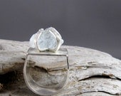 Raw Aquamarine Sterling Silver Ring