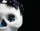 Traditional Sugar Skull - Black, Grey MUERTE DESIGN