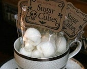 SKULL SUGAR CUBES - 6 Bags of Four Skulls