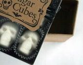 "Sugar Cube Skulls ""the original"" since 2010 - box of nine sugar skulls skull sugar cubes"