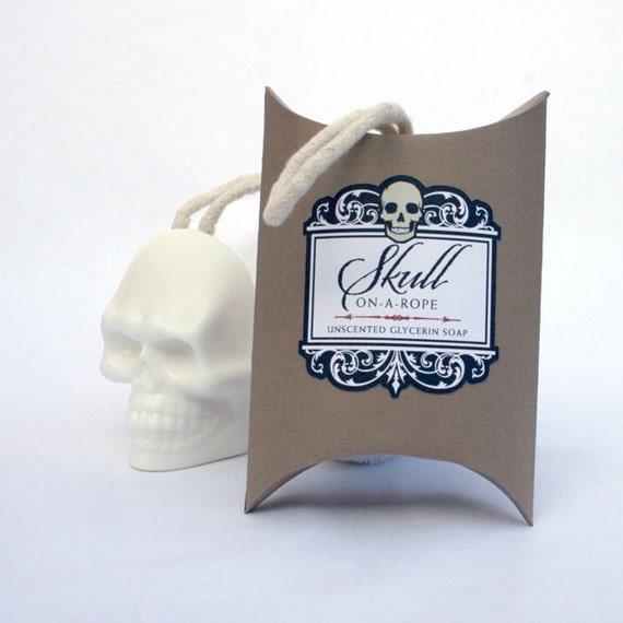 Skull-On-A-Rope - Kraft Box Soap On A Rope Skull