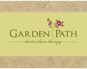 Custom Logo  -  PreDesigned PreMade Logo GARDEN PATH