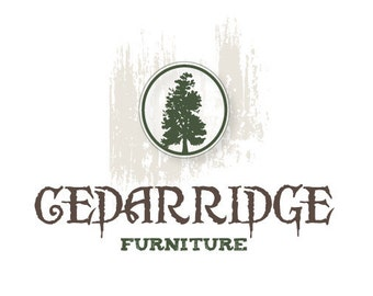 SALE - PreDesigned Custom One of A Kind Vector Logo Design - CEDAR RIDGE Vector Logo - Tree Logo - Forest Logo - Eco Logo
