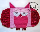 Pink Red Owl Lovey (Blanket Doll)