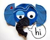 Blue Elephant Blanket Doll Lovey