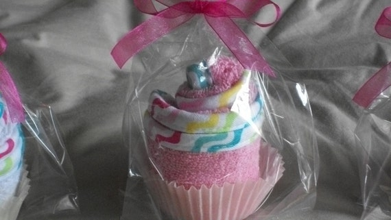 Baby Washcloth Cupcake Favor