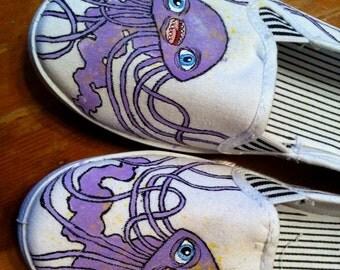 Jellyfish slip-ons