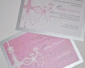 Chandelier Tiara Baby Shower Invitations for Girl