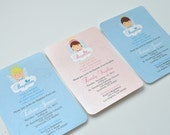 Angel  Baptism Invitations