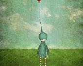 The balloon - Art print (3 different sizes)