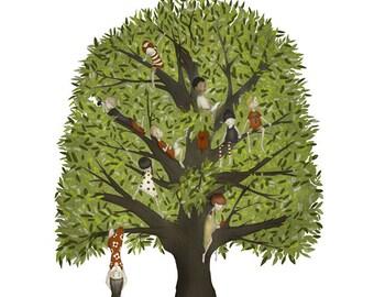The climbing tree - Art print (3 different sizes)