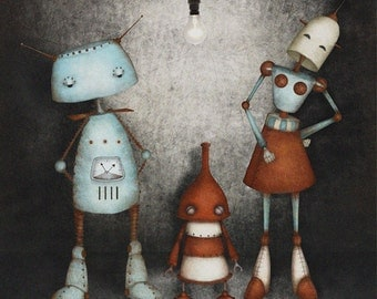 The Robotssons - Art print (3 different sizes)