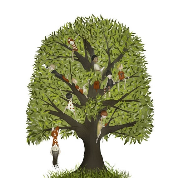 The climbing tree - Art print (3 different sizes)