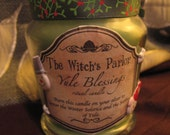 Yule Blessings altar candle