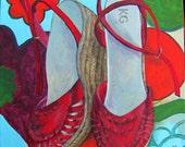 Painting Maria's Favourite Shoes original art