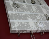 Jewelry / Key / Accessory Hangers in Soft Silver Gray and Ivory