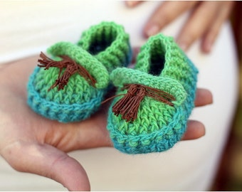 CROCHET PATTERN: Shoebeedoo Loafers (Baby Sizes) - Permission to Sell Finished Product