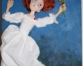 Ophelia (mounted on canvas)