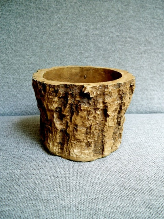 Faux Bois Planter Pot Log Wood Rustic By Whitlockandco