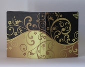 Black and Gold Romance Blank Journal