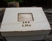 Personalized Rustic Wedding Photo Keepsake or Card Box
