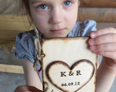 Personalized Rustic Wood VOW Book for your Wedding - Write your own Vows - Wedding Keepsake