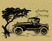 VINTAGE CARS (101) Digital Image Collage of  2.5inch x 3.5inch tags for crafts, scrapbooking,  cards, ACEOs ATCs instant download