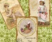 Vintage EASTER TAGS Vintage Style Digital  images (236)  Collage for crafts, scrapbooking cards instant DOWNLOAD