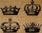 Crowns Crown Royal Queen King Digital Image Download Transfer To Pillows Tote Tea Towels Burlap No. 2399