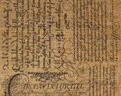 Burlap Digital Download Italian Calligraphy Script Writing Words Language Italy Digital Collage Sheet Transfer Pillows Totes Tea Towels 2717