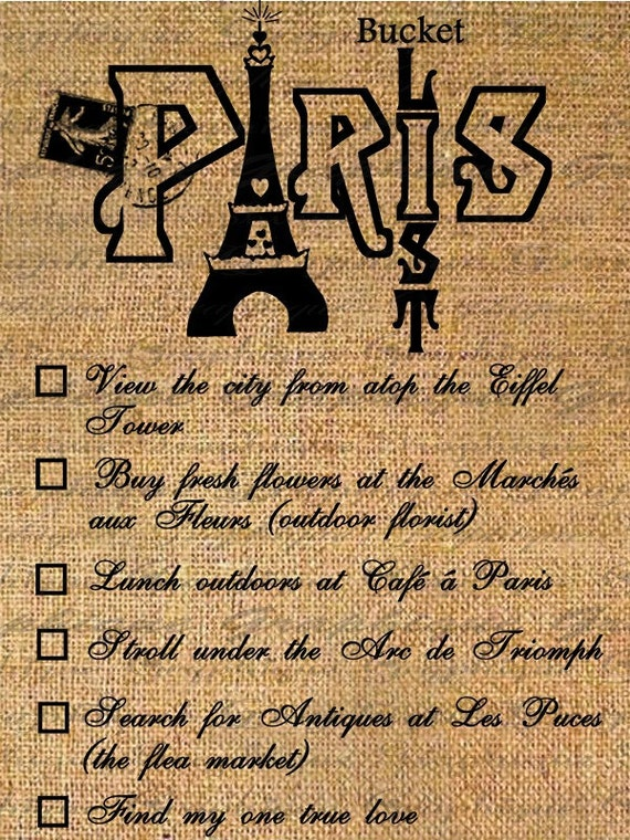 items similar to paris bucket list french postmark france